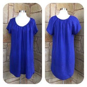 Rebecca Taylor BlueViolet Flutter Silk Shift Dress